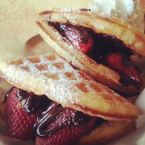 Bruxie Waffles - The Love Bruxie (Chocolate, Strawberries & Waffles)