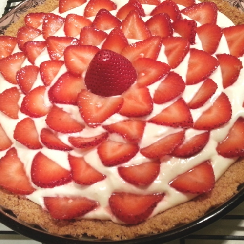 Homemade Strawberries & Cream Pie