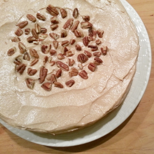 Spiced Apple Cake with Brown Sugar Cinnamon Cream Cheese Frosting