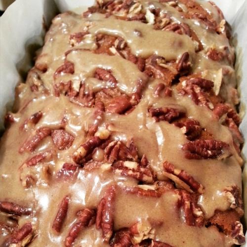 Sweet Potato Banana Bread with Brown Sugar Glaze