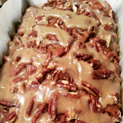 Sweet Potato Banana Bread with Brown Sugar Glaze