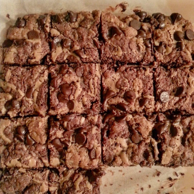 Recipe Review: Oatmeal Chocolate Chip Peanut Butter Swirl Brownies
